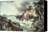 White River Scene Canvas Prints - Point Lobos at Monterey in California Canvas Print by Thomas Moran
