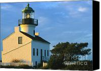 Architectural Detail Canvas Prints - Point Loma Lighthouse Canvas Print by Sandra Bronstein