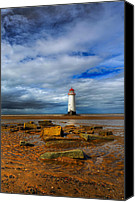 Vacation Digital Art Canvas Prints - Point Of Ayr Beach Canvas Print by Adrian Evans