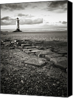 Guidance Canvas Prints - Point Of Ayre Lighthouse Canvas Print by Jon Baxter