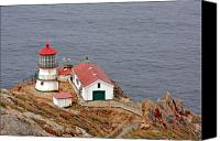 Point Reyes National Seashore Canvas Prints - Point Reyes Lighthouse CA Canvas Print by Christine Till