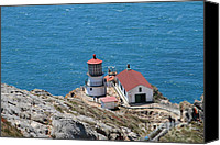 Headlands Canvas Prints - Point Reyes Lighthouse in California 7D15974 Canvas Print by Wingsdomain Art and Photography