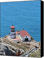 Headlands Canvas Prints - Point Reyes Lighthouse in California 7D15975 Canvas Print by Wingsdomain Art and Photography