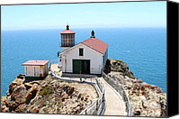 Headlands Canvas Prints - Point Reyes Lighthouse in California 7D15996 Canvas Print by Wingsdomain Art and Photography