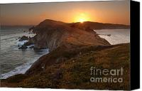 Northern California Canvas Prints - Point Reyes Sunset Canvas Print by Matt Tilghman