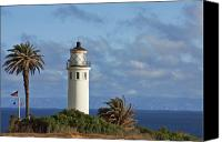 Active Canvas Prints - Point Vicente Lighthouse on the cliffs of Palos Verdes California Canvas Print by Christine Till
