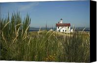 Point Wilson Lighthouse Canvas Prints - Point Wilson Light Canvas Print by Idaho Scenic Images Linda Lantzy