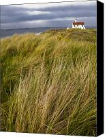 Point Wilson Lighthouse Canvas Prints - Point Wilson Lighthouse and beachgrasses Canvas Print by Ed Book
