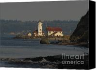 Point Wilson Lighthouse Canvas Prints - Point Wilson Lighthouse Canvas Print by Bruce Borthwick