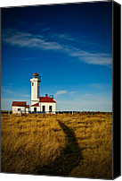 Point Wilson Lighthouse Canvas Prints - Point Wilson Lighthouse Canvas Print by Dan Mihai