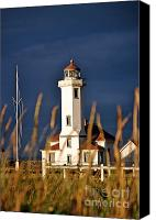 Point Wilson Lighthouse Canvas Prints - Point Wilson lighthouse Canvas Print by Frank Larkin