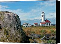 Point Wilson Lighthouse Canvas Prints - Point Wilson Lighthouse Canvas Print by Frank Winters