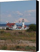 Point Wilson Lighthouse Canvas Prints - Point Wilson Lighthouse Canvas Print by Jim Moore