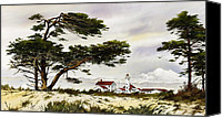 Point Wilson Lighthouse Canvas Prints - Point Wilson Lighthouse Shore Canvas Print by James Williamson