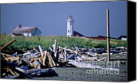 Point Wilson Lighthouse Canvas Prints - Point Wilson Canvas Print by Sharon Elliott