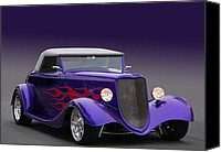 California Hot Rod Canvas Prints - Poiple Rod Canvas Print by Bill Dutting