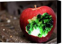 Creepy Canvas Prints - Poisoned Apple Canvas Print by Jim DeLillo