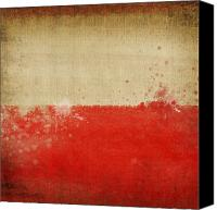 Abstract Map Photo Canvas Prints - Poland flag  Canvas Print by Setsiri Silapasuwanchai
