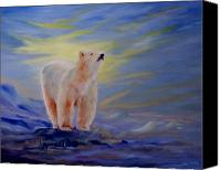 Polar Bear Canvas Prints - Polar Bear Canvas Print by Joanne Smoley