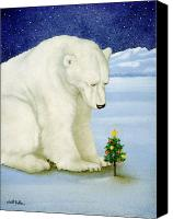 Polar Bear Canvas Prints - Polar Prayer... Canvas Print by Will Bullas