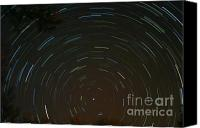 Startrail Canvas Prints - Polaris Canvas Print by Stephen Whisman