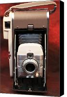 Polaroid Camera Canvas Prints - Polaroid Bellows Camera Canvas Print by John Rizzuto