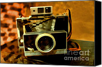 Antiques Digital Art Canvas Prints - Polaroid Land Camera Model 100 . 7D13289 Canvas Print by Wingsdomain Art and Photography