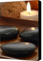 Smooth Canvas Prints - Polished Stones in a Spa Canvas Print by Olivier Le Queinec