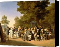 Meetings Canvas Prints - Politicians in the Tuileries Gardens Canvas Print by Louis Leopold Boilly
