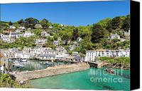 Kernow Canvas Prints - Polperro Canvas Print by Carl Whitfield