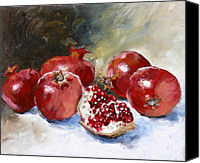 Fruit Canvas Prints - Pomegranate Canvas Print by Tanya Jansen