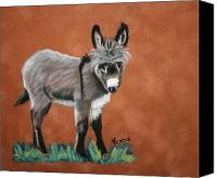 Donkey Pastels Canvas Prints - Poncho Canvas Print by Michele Turney
