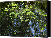 Impressionism Photo Canvas Prints - Pond Reflection 1 Canvas Print by Janeen Wassink Searles
