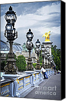 Pont Canvas Prints - Pont Alexander III in Paris Canvas Print by Elena Elisseeva
