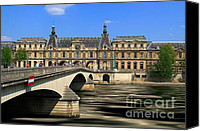 Carrousel Art Canvas Prints - Pont du Carrousel Canvas Print by Louise Heusinkveld