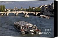 La Seine Canvas Prints - Pont du Carroussel. Paris. France Canvas Print by Bernard Jaubert