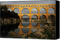 Arch Bridge Canvas Prints - Pont Du Gard Canvas Print by Boccalupo Photography