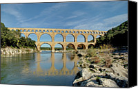 Pont Canvas Prints - Pont Du Gard, France Canvas Print by David Min