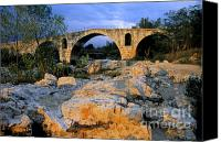 Pont Canvas Prints - Pont Julien. Luberon. Provence. France. Europe Canvas Print by Bernard Jaubert