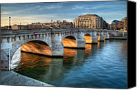 Pont Canvas Prints - Pont-neuf And Samaritaine, Paris, France Canvas Print by Romain Villa Photographe