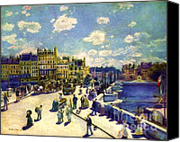 Scenery Prints Canvas Prints - Pont Neuf Canvas Print by Pg Reproductions