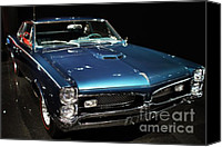 Transportation Tapestries Textiles Canvas Prints - Pontiac GTO 2 Canvas Print by Wingsdomain Art and Photography