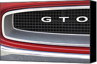 Gto Canvas Prints - Pontiac GTO  Canvas Print by Mike McGlothlen