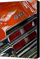 Gto Canvas Prints - Pontiac GTO Taillight Emblem 3 Canvas Print by Jill Reger