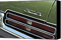 Gto Canvas Prints - Pontiac GTO Taillight Emblem Canvas Print by Jill Reger
