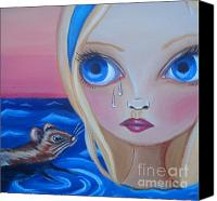 Jasmine Painting Canvas Prints - Pool of Tears Canvas Print by Jaz Higgins