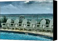 Panama City Beach Photo Canvas Prints - Poolside with a View Canvas Print by Julie Dant