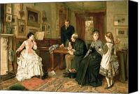 1875 Canvas Prints - Poor Relations Canvas Print by George Goodwin Kilburne