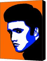 Elvis Canvas Prints - Pop Art of Elvis Presley Canvas Print by Nikita Ryazanow