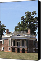 Octagonal Canvas Prints - Poplar Forest from the Lawn Canvas Print by Teresa Mucha